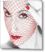 The Red Realm - Self Portrait Metal Print