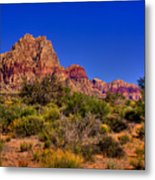 The Red Rock Canyon At Bonnie Springs Ranch Metal Print