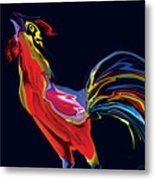 The Red Rooster Metal Print