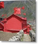The Red Temple Metal Print