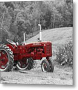 The Red Tractor Metal Print