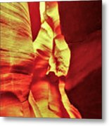 The Reddish Yellow Path Metal Print