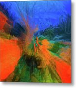 The Reef In Watercolor Abstract Metal Print