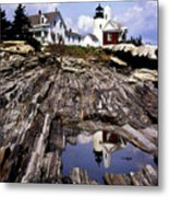 The Reflection At Pemaquid Metal Print