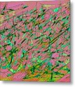 The Regatta In Pink Seas Metal Print