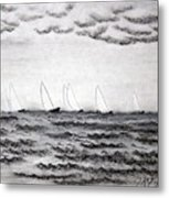 The Regatta Metal Print