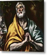 The Repentant Saint Peter Metal Print