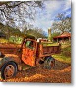 The Resting Place 2 Farm Life 1947 Dodge Dump Truck Art Metal Print
