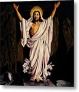 The Resurrection Metal Print by Milagros Palmieri
