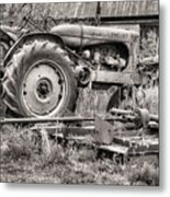 The Retirement Home Black And White Metal Print by JC Findley