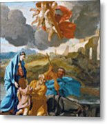 The Return Of The Holy Family From Egypt Metal Print