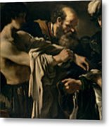 The Return Of The Prodigal Son Metal Print by Giovanni Francesco Barbieri