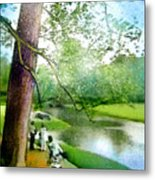 The Return Of The Tiger 03 - Walking On Water Metal Print
