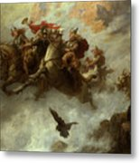 The Ride Of The Valkyries  Metal Print by William T Maud