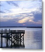 The River At Dusk Metal Print