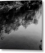 The River In Black And White Metal Print