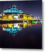 The River Liffey Night Romance 2 Metal Print