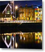 The River Liffey Reflections Metal Print