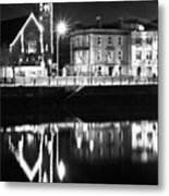 The River Liffey Reflections Bw Metal Print