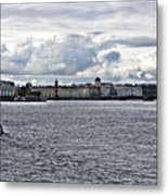 The river the sky and is a little city Metal Print