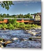 The River Walk Bridge Metal Print