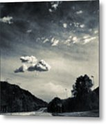 The Road And The Clouds Metal Print