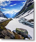The Road And The Stream Metal Print