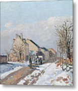 The Road From Gisors To Pontoise Metal Print by Camille Pissarro