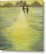 The Road In The Ocean Of Light Metal Print