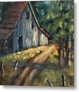 The Road Leads Home Metal Print