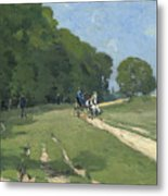 The Road Near The Park Of Courances Metal Print