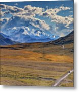 The Road To Denali Metal Print