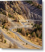 The Road To Izoard Pass - 2 - French Alps Metal Print