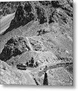 The Road To Ladakh Bw Metal Print