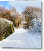 The Road To Restronguet Metal Print