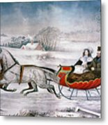 The Road-winter, 1853 Metal Print