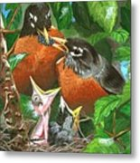 The Robins Metal Print