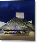 The Rock And Roll Hall Of Fame At Dusk Metal Print