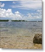 The Rock In The Bay Metal Print