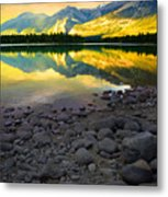 The Rockies Reflected At Lake Annettee Metal Print