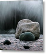 The Rocks At The End Of Hastie Road Metal Print