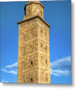 The Roman Lighthouse Known As Tower Of Hercules Metal Print