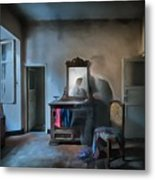 The Room Of The Castle Of The Phantom Of The Mirror Paint Metal Print