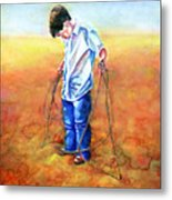 The Roping Lesson Metal Print