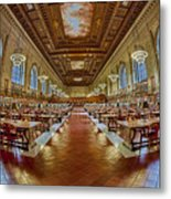 The Rose Main Reading Room Nypl Metal Print