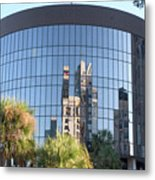 The Round Building In Orlando Metal Print