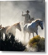 The Round Up Metal Print
