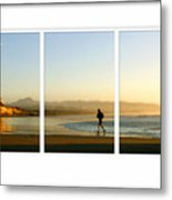 The Runner Triptych Metal Print