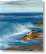The Rush Of The Water Metal Print