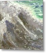 The Rushing Ocean Waves Metal Print